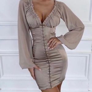 House of CB Gia Taupe Bustier Dress